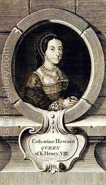 Portrait of Catherine Howard by (after) Holbein the Younger, Hans - Reproduction Oil Painting