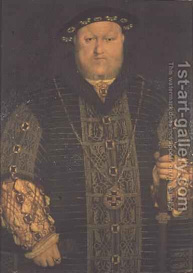 Portrait of King Henry VIII 1491-1547 by (after) Holbein the Younger, Hans - Reproduction Oil Painting