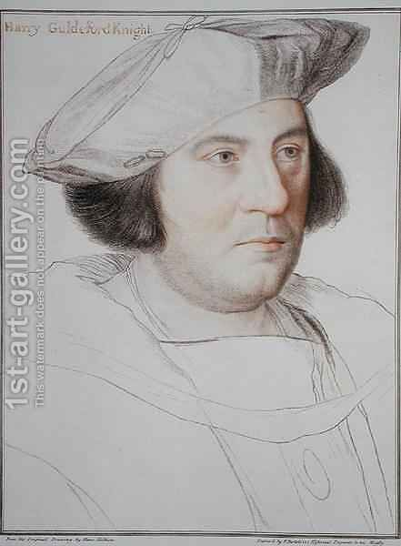 Portrait of Harry Guldeford by (after) Holbein the Younger, Hans - Reproduction Oil Painting
