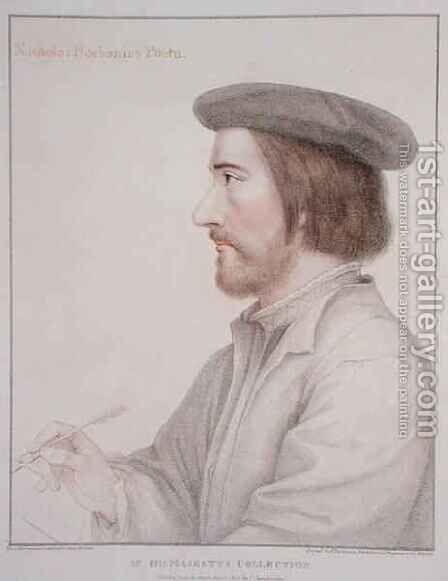 Nicholas Borbonius 1503-50 by (after) Holbein the Younger, Hans - Reproduction Oil Painting