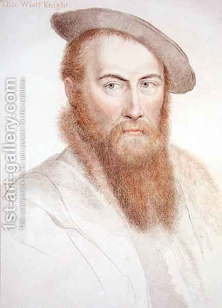 Sir Thomas Wyatt by (after) Holbein the Younger, Hans - Reproduction Oil Painting