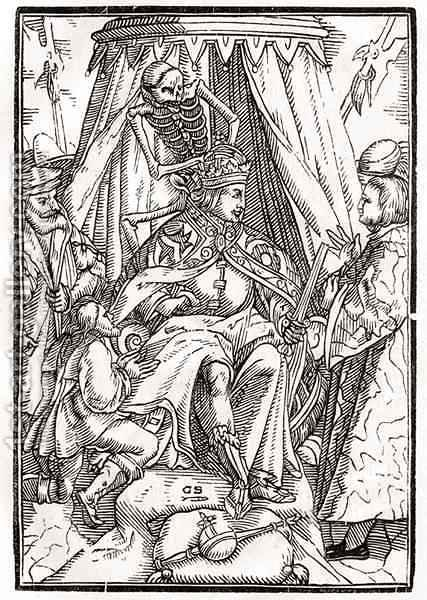 Death comes for the Emperor by (after) Holbein the Younger, Hans - Reproduction Oil Painting