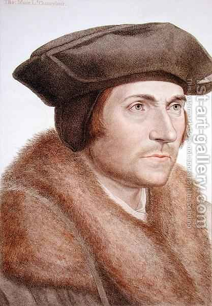 Thomas More Lord Chancellor 1478-1535 by (after) Holbein the Younger, Hans - Reproduction Oil Painting