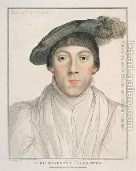 Henry Howard Earl of Surrey by (after) Holbein the Younger, Hans - Reproduction Oil Painting