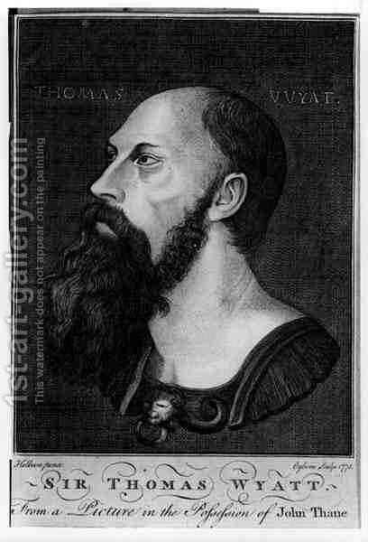 Portrait of Sir Thomas Wyatt the Younger by (after) Holbein the Younger, Hans - Reproduction Oil Painting