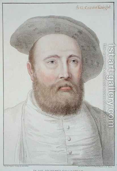 Sir George Carew by (after) Holbein the Younger, Hans - Reproduction Oil Painting