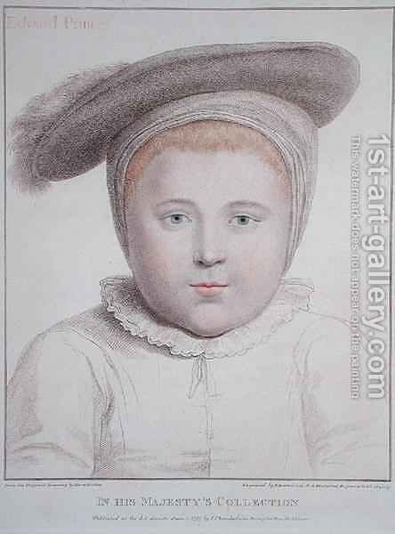 Portrait of Edward VI 1537-53 2 by (after) Holbein the Younger, Hans - Reproduction Oil Painting