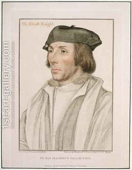 Sir Thomas Elyot c 1490-1546 by (after) Holbein the Younger, Hans - Reproduction Oil Painting