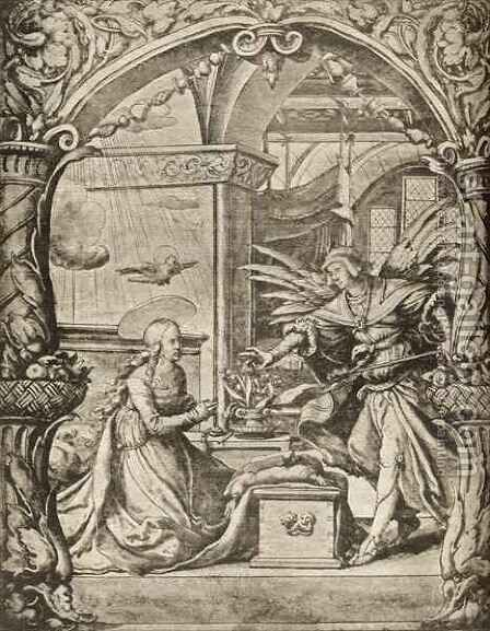 The Annunciation by (after) Holbein the Younger, Hans - Reproduction Oil Painting