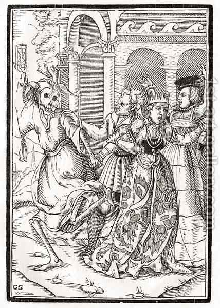 Death comes for the Queen by (after) Holbein the Younger, Hans - Reproduction Oil Painting