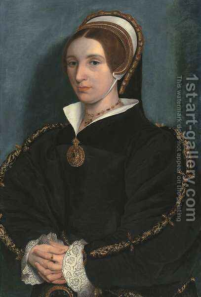 Portrait of a Lady thought to be Catherine Howard by (after) Holbein the Younger, Hans - Reproduction Oil Painting