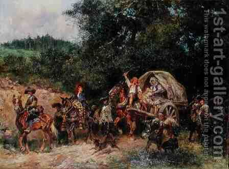 Camp Followers by Anton Hoffmann - Reproduction Oil Painting