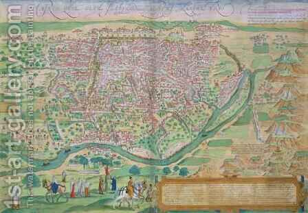 Map of Cairo from Civitates Orbis Terrarum by (after) Hoefnagel, Joris - Reproduction Oil Painting