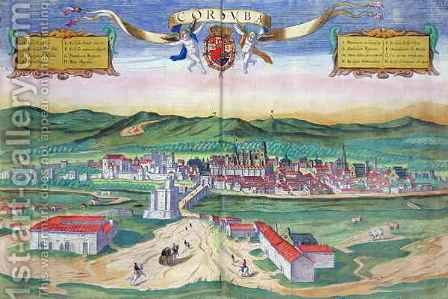 Map of Cordoba from Civitates Orbis Terrarum by (after) Hoefnagel, Joris - Reproduction Oil Painting