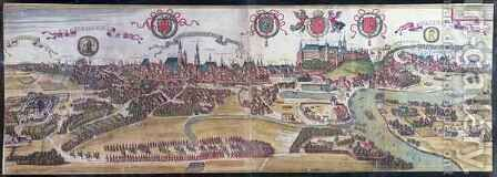View of Cracow from the North West from Civitates Orbis Terrarum by (after) Hoefnagel, Joris - Reproduction Oil Painting