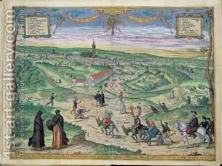 Town Plan of Seville from Civitates Orbis Terrarum 2 by (after) Hoefnagel, Joris - Reproduction Oil Painting