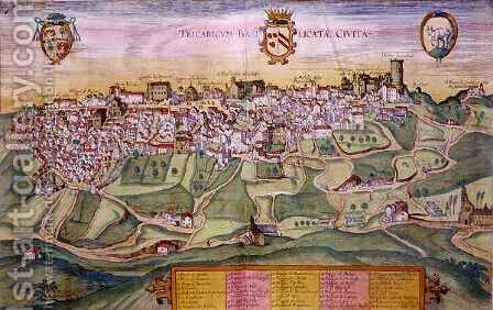 Map of Tricarico from Cities of the World by (after) Hoefnagel, Joris - Reproduction Oil Painting