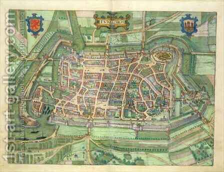dap of Luneburg from Civitates Orbis Terrarum by (after) Hoefnagel, Joris - Reproduction Oil Painting