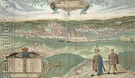 Map of Cracow from Civitates Orbis Terrarum by (after) Hoefnagel, Joris - Reproduction Oil Painting