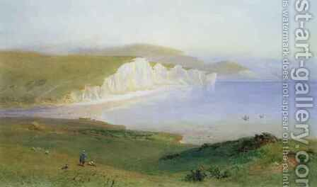 The Seven Sisters and the Mouth of the Cuckmere by Henry George Hine - Reproduction Oil Painting