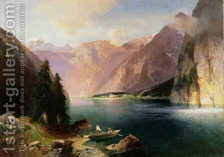 Koenigssee by Heinrich (Heinz) Hiller - Reproduction Oil Painting