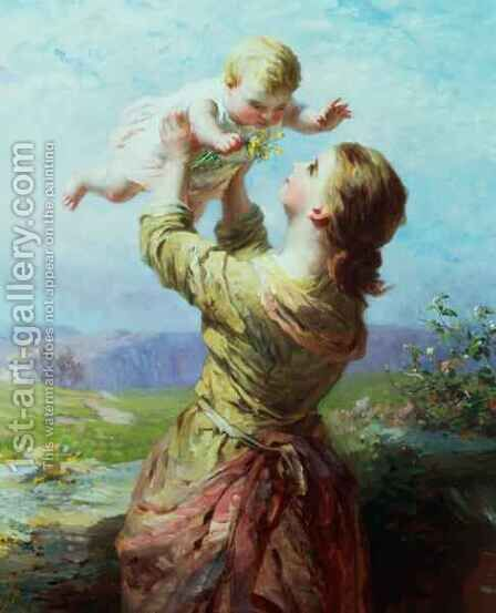 She looks and looks and still with new delight by James John Hill - Reproduction Oil Painting
