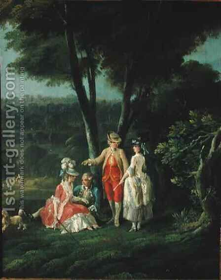 A Walk in the Park by (after) Hilaire, Jean-Baptiste - Reproduction Oil Painting