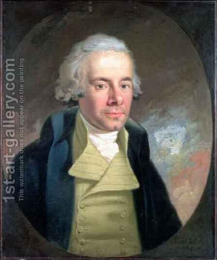 Portrait of William Wilberforce 1759-1833 by Anton Hickel - Reproduction Oil Painting