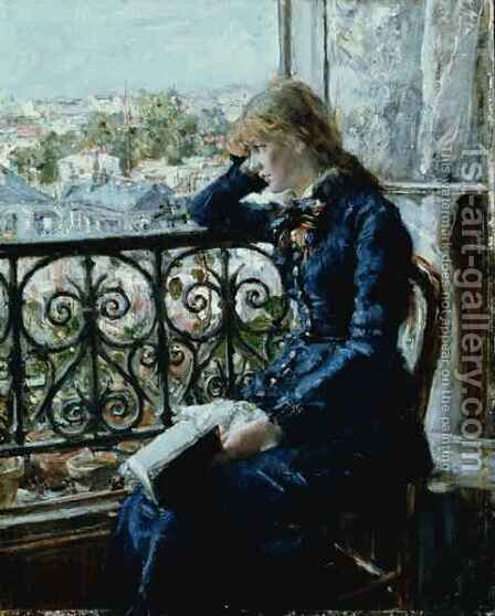 At the Window by Hans Olaf Heyerdahl - Reproduction Oil Painting