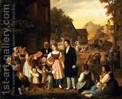 Dorotheas Farewell from Goethes Hermann and Dorothea by Heinrich Maria von Hess - Reproduction Oil Painting