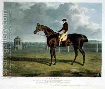 St Patrick the Winner of the Great St Leger at Doncaster 1820 by (after) Herring Snr, John Frederick - Reproduction Oil Painting