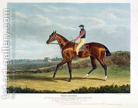 Theodore the Winner of the Great St Leger at Doncaster by (after) Herring Snr, John Frederick - Reproduction Oil Painting