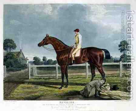 Reveller the Winner of the Great St Leger at Doncaster by (after) Herring Snr, John Frederick - Reproduction Oil Painting