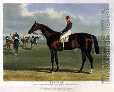 Don John the Winner of the Great St Leger Stakes at Doncaster by (after) Herring Snr, John Frederick - Reproduction Oil Painting