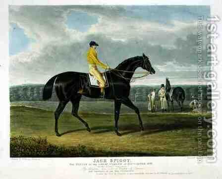 Jack Spigot the Winner of the Great St Leger at Doncaster by (after) Herring Snr, John Frederick - Reproduction Oil Painting