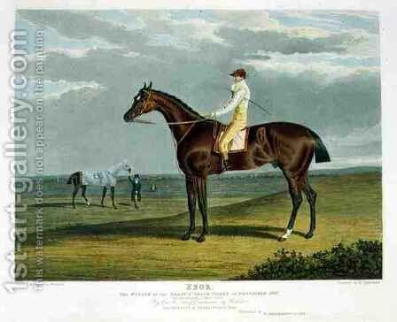 Ebor the Winner of the Great St Leger at Doncaster by (after) Herring Snr, John Frederick - Reproduction Oil Painting