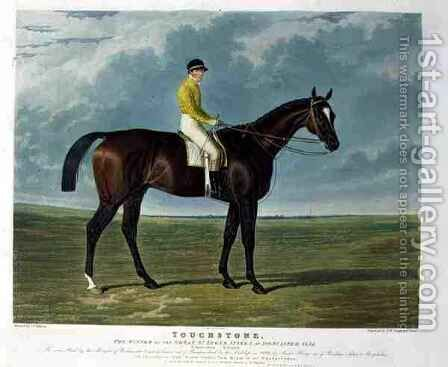 Touchstone the Winner of the Great St Leger Stakes at Doncaster by (after) Herring Snr, John Frederick - Reproduction Oil Painting