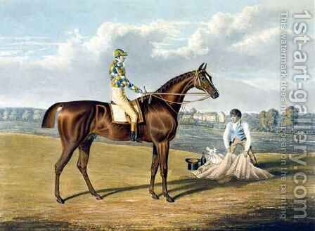 Barefoot Winner of the St Leger by (after) Herring Snr, John Frederick - Reproduction Oil Painting