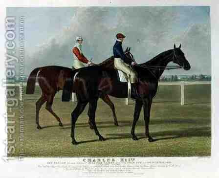 Charles XII the Winner of the Great St Leger Stakes at Doncaster by (after) Herring Snr, John Frederick - Reproduction Oil Painting