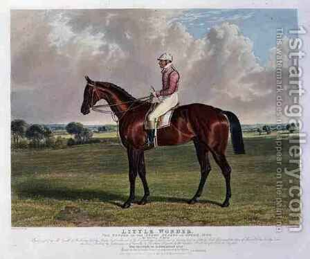 Little Wonder the Winner of the Derby Stakes at Epsom by (after) Herring Snr, John Frederick - Reproduction Oil Painting