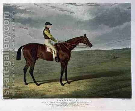 Frederick the Winner of the Derby Stakes at Epsom by (after) Herring Snr, John Frederick - Reproduction Oil Painting