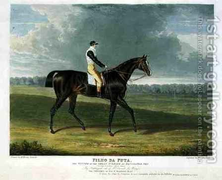 Filho da Puta the Winner of the Great St Leger at Doncaster by (after) Herring Snr, John Frederick - Reproduction Oil Painting