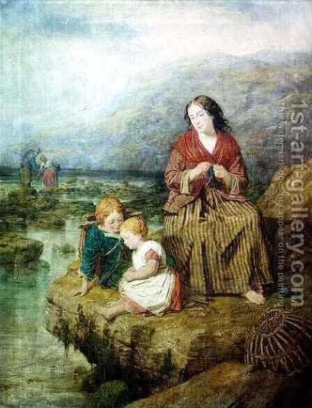 The Young Fishermen by Isaac Henzell - Reproduction Oil Painting