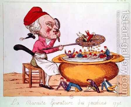 The Purifying Pot of the Jacobins by Benoit Louis Henriquez - Reproduction Oil Painting