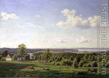 View from Noddebo by Carsten Henrichsen - Reproduction Oil Painting