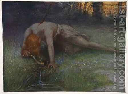 The death of Siegfried by Hermann Hendrich - Reproduction Oil Painting