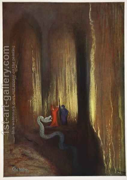 Dark Cavern by Hermann Hendrich - Reproduction Oil Painting