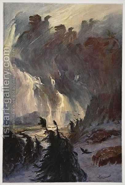 Ride of the Valkyries by Hermann Hendrich - Reproduction Oil Painting