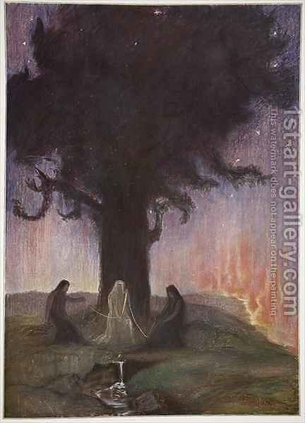 The Norns by Hermann Hendrich - Reproduction Oil Painting