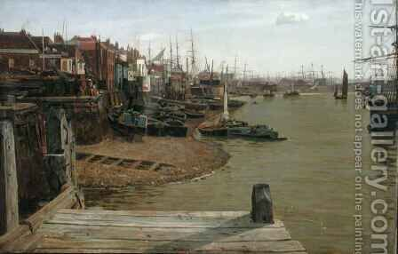 The Thames at Limehouse by Charles Napier Hemy - Reproduction Oil Painting
